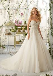 crystal beaded embroidery on organza morilee bridal wedding dress