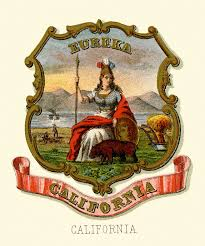 California Historical Coat Of Arms Illustrated 1876