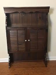 Ethan Allen Dark Pine Roll Top Desk by Desks U0026 Secretaries Furniture Antiques Picclick