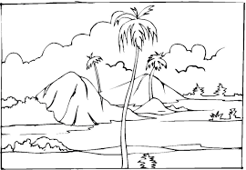 Pictures Landscape Coloring Pages 80 With Additional Free Book