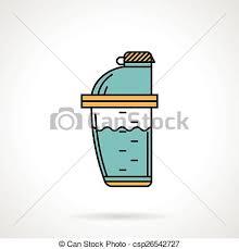 Shaker Bottle Flat Design Icon Vector