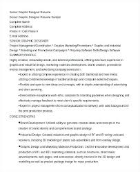Graphic Design Resumes Examples Designer Resume Objective Bunch Ideas Of Spectacular Writer
