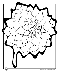 Dahlia Flower Coloring Page