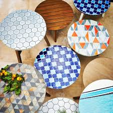 beautiful mosaic patio bistro table tile tabletop diy best ideas