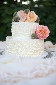 Classic Ivory Wedding Cake With Fresh Flowers