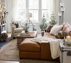 turner square arm leather sofa with chaise sectional pottery barn