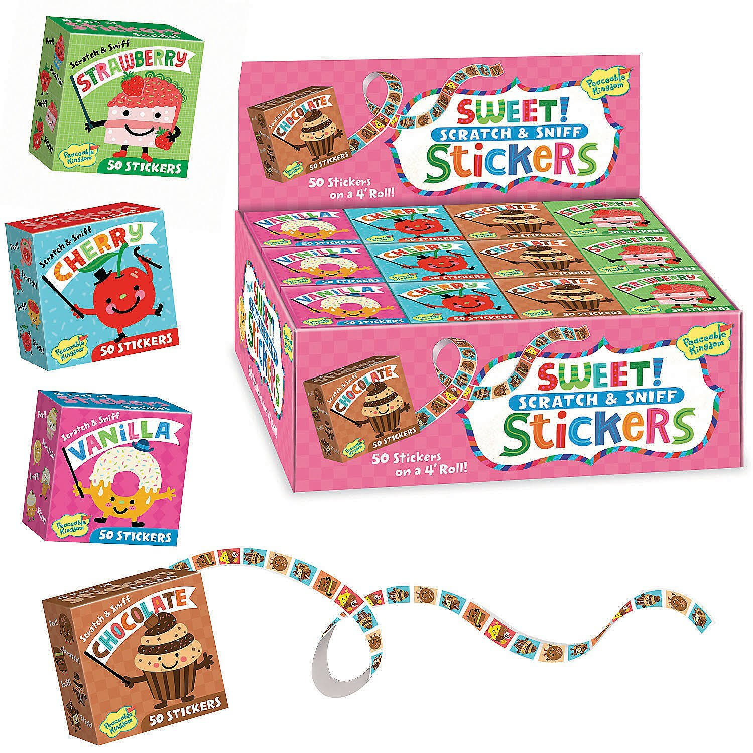 Peaceable Kingdom | Sweet! Scratch & Sniff Boxed Stickers Cherry