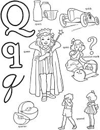 Learning Letter Q Coloring Page For Preschool Kids