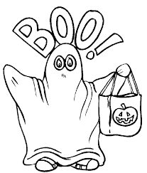 BOO Halloween Coloring Pages Free Printable For