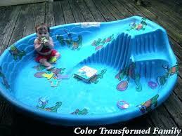 Plastic Pool With Slide Kiddie Color Transformed