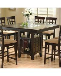 Mix Match 100438 52 Counter Height Dining Table With Wine Rack Simple Pulls Bottom