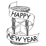 New Years Hour Glass