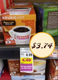 Dunkin Donuts Pumpkin K Cups by I Heart Kroger Kroger Deals Coupons Sale I Heart Kroger