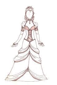 Drawn Gown Dress Sketch 8