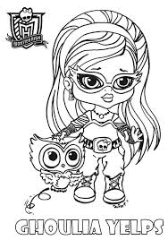 Online For Kid Monster High Coloring Pages Baby 97 In Picture Page With