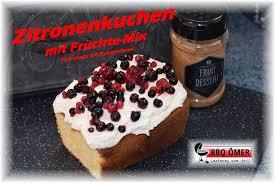 zitronenkuchen mit früchte mix aus der petromax k4 kastenform