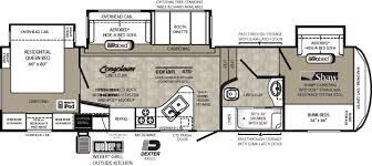 Fifth Wheel Bunkhouse Floor Plans by 5th Wheel Front Bunkhouse Floor Plans Google Search Rv Living