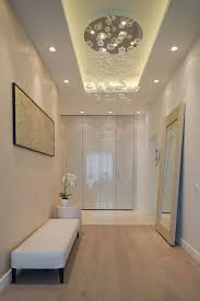 Lighting Outstanding Modern Ceiling Lights Hallway Between Halogen Recessed Mounted On Designs Above