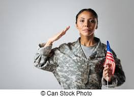 Magnificent Fearless Woman Being A Patriot