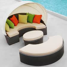 Replacement Slings For Outdoor Chairs Australia by Furniture Comfortable Round Wicker Outdoor Daybed For Patio