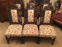 A Set Of Six Barley Twist Oak Dining Chairs Of 19th Century ... Jacobean Style Ding Table And Six Chairs Set Of 8 Oak Lp1722 English Large Ref No 03869c Regent Antiques Jacoelizabethan Era 1900s Oak Ding Table With Leaf Antique Room Tables Awesome Pin On Fniture Tonawanda Woodworks Circa 1920s 6 Chairs Angelus Mfg Co Indoor Chair Elizabethan Pottery Details About Sideboard Sver Buffet Kitchen Hand Crafted Reclaimed Wood Farmhouse With Beautiful