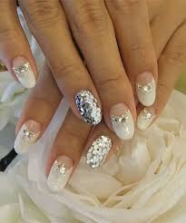 Glitter White Nail Designs For Prom