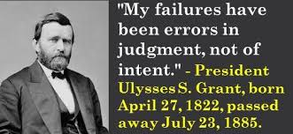 President Ulysses S Grant Born April 27 1822 Passed Away July 185311