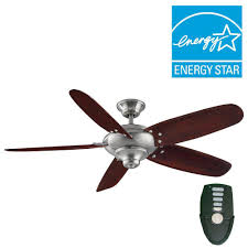 Brushed Nickel Ceiling Fan by Home Decorators Collection Altura 56 In Indoor Brushed Nickel