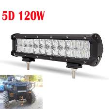 100 Led Work Lights For Trucks 120W 12inch Chips Light Bar 5D Auto SUV Combo For Vehicle