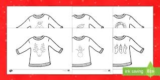 Jumper Colouring Pages Nativity Ugly Christmas Sweater Coloring Sheets