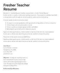 Teacher Resume Formats Faculty Samples Preschool Curriculum Vitae Sample