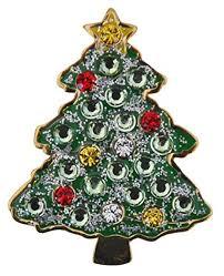 Navika Christmas Tree Swarovski Crystal And Glitz Ball Marker With Hat Clip