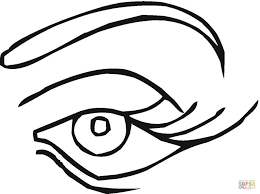 Click The Blue Eye Coloring Pages Monster Large Size