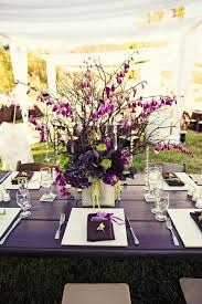 Purple Wedding Centerpiece with a hint of green love this colour