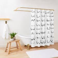 home dusche badezimmer vorhang lustige frau nackt nackt