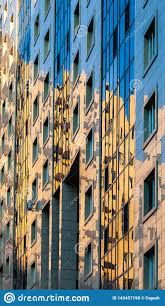 100 Glass Modern Houses Close Up Residential Building And Reflection Of