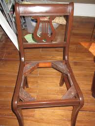 Lyre Back Chairs History by Lyre Chair Makeover With Gel Stain A Guy A And A Really