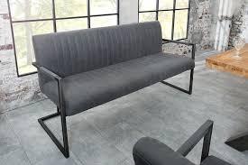 sitzbank big aston vintage grau 160cm mit gebürstetem