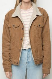 brandy melville elisha fur corduroy jacket clothing