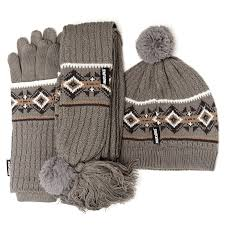 muk luks hat scarf u0026 glove 3 piece set qvc uk