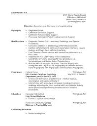 New Grad Nurse Resume Examples Sample Resumes Nursing For A Registered Canada