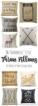 16 Farmhouse Style Throw Pillows To Spruce Up Your Living Space