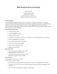 Example Mba Resume Business School Resumes Best Collection View Larger Sample For Freshers