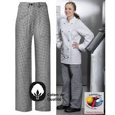 tenue cuisine femme pantalon femme cuisine chef boulangère très confortable