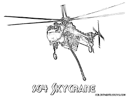 Heart Pounding Helicopter Coloring