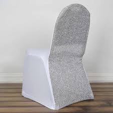 White Spandex Stretch Banquet Chair Cover With Silver Metallic ... Buy Whosale Pack Of 100 Premium White Spandex Chair Covers Lavender Chiffon Curly Chair Sash Wedding Party Decorations Cover Sash Bands Lycra For Cheap For Events Crealive Plus Banquet Plum Fuzzy Fabric Sale Chair Cover Hire In West Drayton Hayes Hounslow Balloon And Ties Linen Seat And Sashes Black Purple Weddings Bridal Tablecloths And Runners Direct