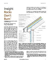 Insulating Cathedral Ceilings Rockwool by Rocks Don U0027t Burn Building Science Corporation