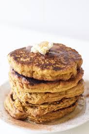 Easy Healthy Pumpkin Pancake Recipe by Healthy Pumpkin Pancakes Vegan Gluten Free Grain Free Paleo