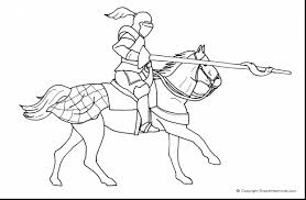 Excellent Medieval Knight On Horse Coloring Page With Pages And Meta