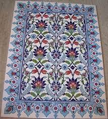 sale 32 x24 turkish raised iznik floral pattern ceramic tile